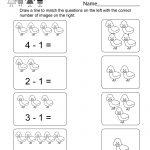 Printable Subtraction Worksheet   Free Kindergarten Math Worksheet | Printable Subtraction Worksheets