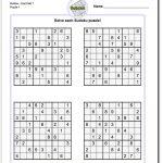 Printable Sudoku Puzzles | Math Worksheets | Sudoku Puzzles, Maths | Printable Sudoku Worksheets