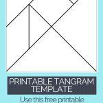 Printable Tangrams   An Easy Diy Tangram Template | Art For | Tangram Worksheet Printable Free