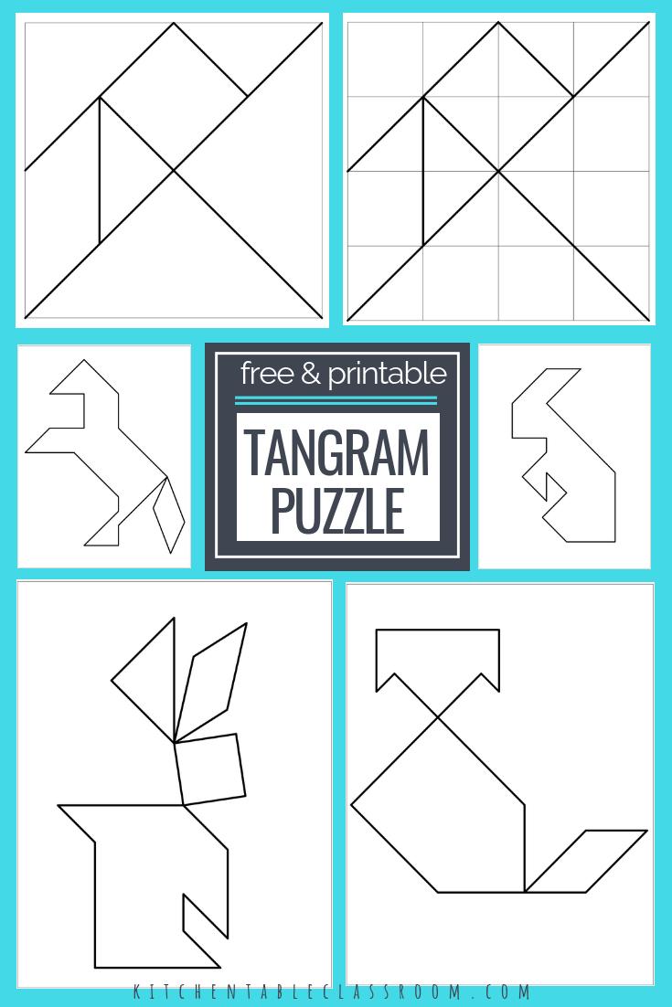 Printable Tangrams - An Easy Diy Tangram Template | Free Homeschool | Printable Tangram Worksheets