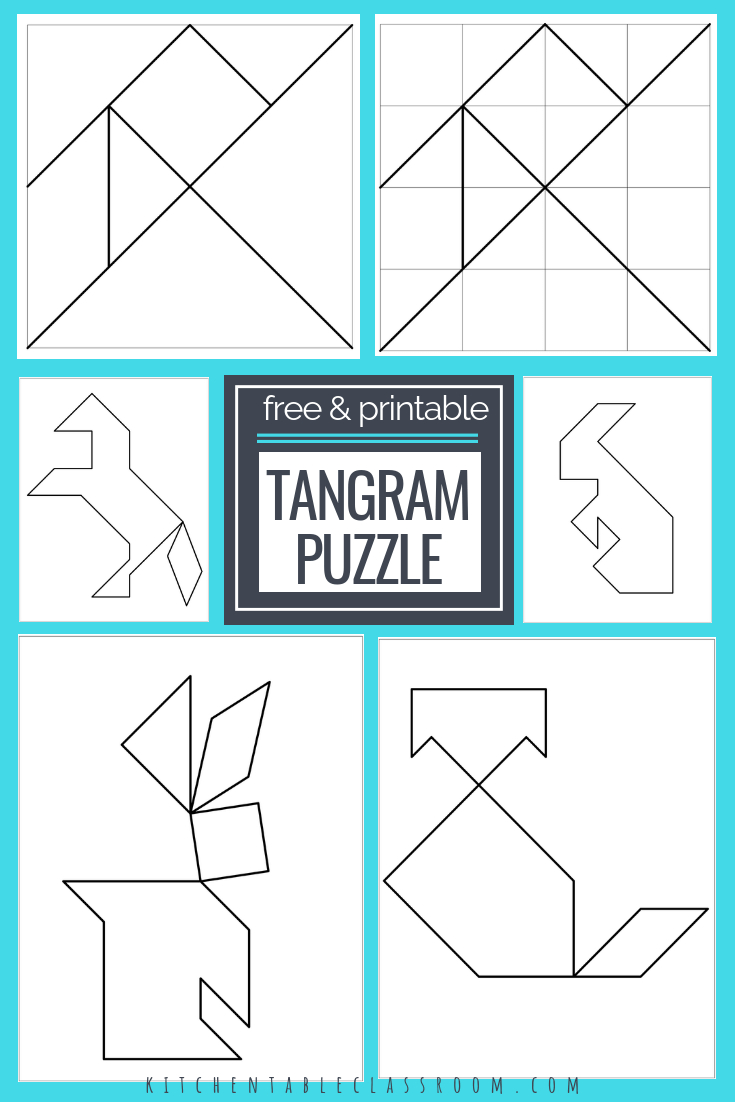 Printable Tangrams - An Easy Diy Tangram Template | Free Homeschool | Tangram Worksheet Printable Free