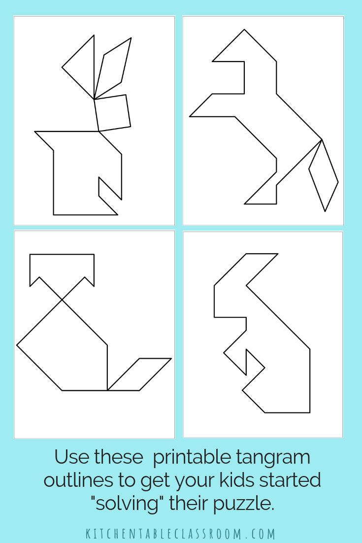 Printable Tangrams - An Easy Diy Tangram Template | Lesson | Tangram Worksheet Printable Free