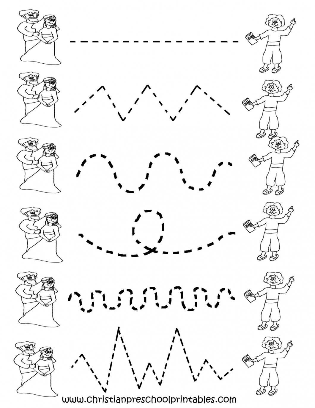 Printable Tracing Worksheets For Preschoolers – With Pre Kinder Free | Free Printable Tracing Worksheets For Preschoolers