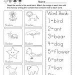 Printable Vocabulary Worksheet   Free Kindergarten English Worksheet | English Worksheets Free Printables