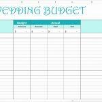 Printable Wedding Budget Spreadsheet Or Easy Wedding Bud Excel | Wedding Budget Worksheet Printable
