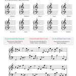 Printables & Audio For Piano Units 1 5: Lessons 1 100   Hoffman | Beginner Piano Worksheets Printable Free