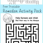 Ramadan Maze And Crossword Printable Activities   In The Playroom | Ramadan Worksheets Printables