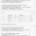 Reading Comprehension Worksheets For 1St Grade   Cramerforcongress | Free Printable Comprehension Worksheets For 5Th Grade