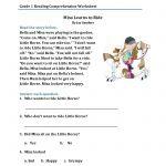 Reading Comprehension Worksheets For 1St Grade   Cramerforcongress | Free Printable Reading Comprehension Worksheets