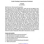 Reading Worksheets   Fourth Grade Reading Worksheets   Free   Free Printable 4Th Grade Reading Worksheets