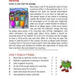 Recycling Worksheet   Free Esl Printable Worksheets Madeteachers | Free Printable Recycling Worksheets