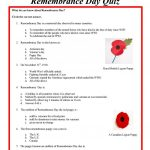 Remembrance Day Quiz Worksheet   Free Esl Printable Worksheets Made | Memorial Day Free Printable Worksheets