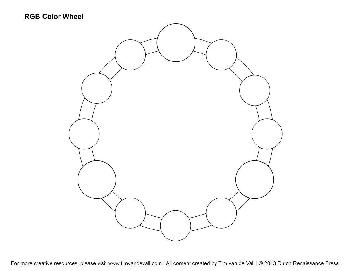 Rgb Color Wheel, Hex Values & Printable Blank Color Wheel Templates | Printable Color Wheel Worksheet