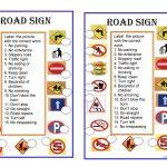 Road Signs Worksheet   Free Esl Printable Worksheets Madeteachers | Free Printable Traffic Signs Worksheets