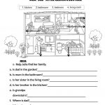 Rooms In The House   Family Members Worksheet   Free Esl Printable   Family Printable Worksheets