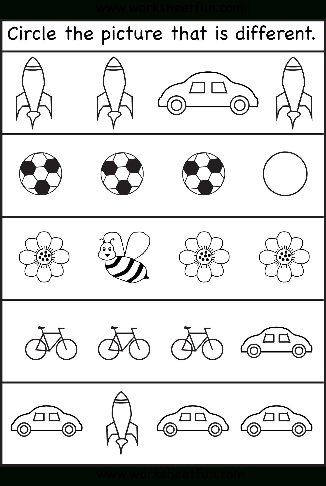 Same Or Different Worksheets For Toddler | Printables For Head Start | Printable Worksheets For Head Start