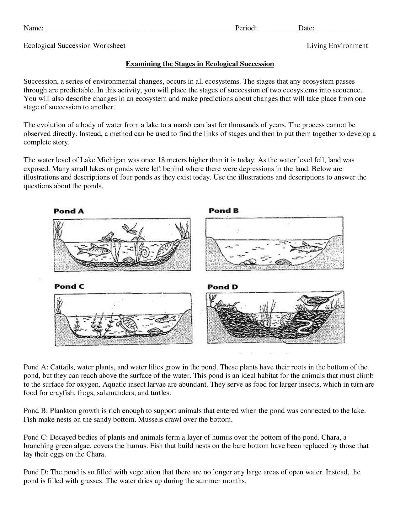 Science Worksheets Ecosystem | Biology Worksheet - Get Now Doc | Free Printable Biology Worksheets For High School