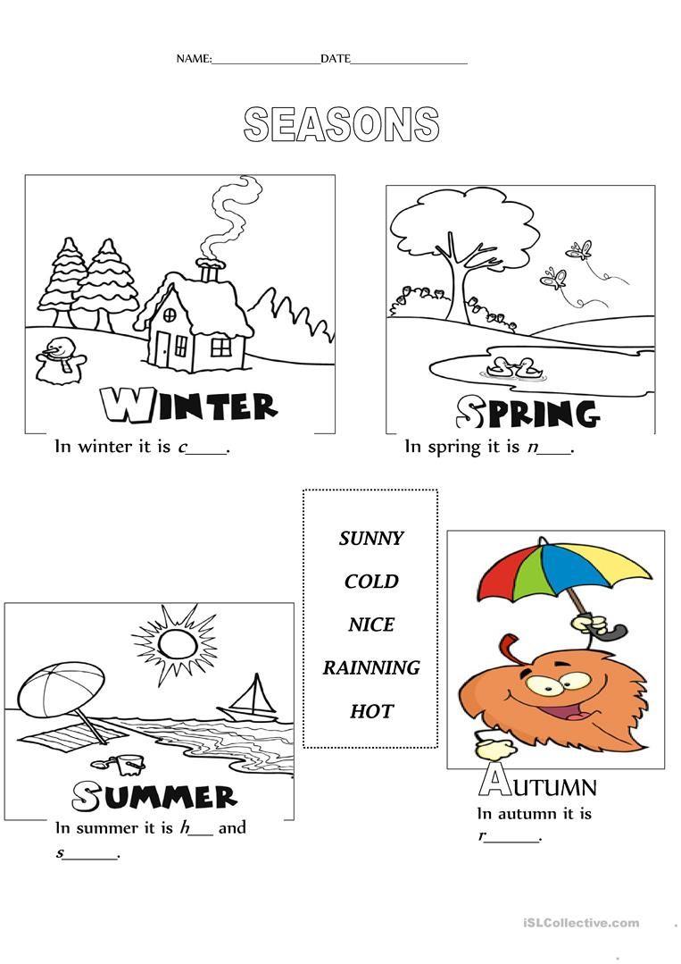 Seasons Worksheet - Free Esl Printable Worksheets Madeteachers | Free Printable Seasons Worksheets