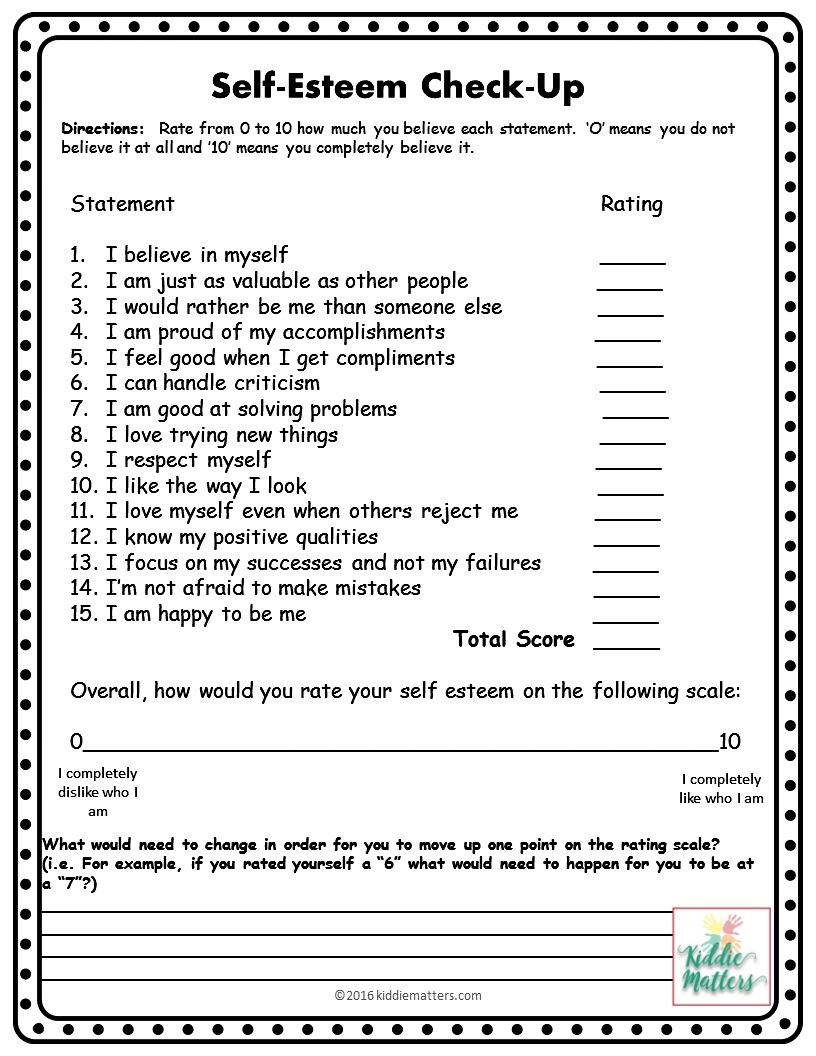 Self Esteem Building Small Group Counseling Lesson Plans And | Self Esteem Building Worksheets Printable