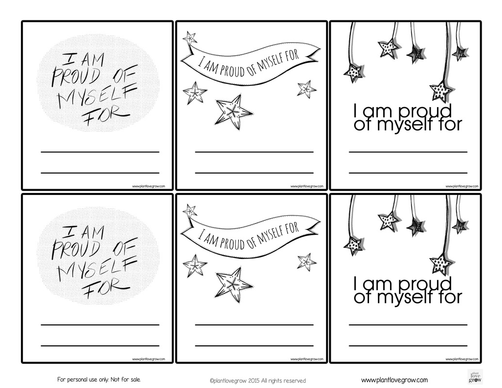 Self-Esteem - Plant Love Grown | Self Esteem Printable Worksheets For Kids