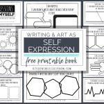 Self Expression Through Writing & Art  Free Self Esteem Worksheets | Self Esteem Worksheets For Kids Free Printable