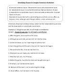Sentences Worksheets | Complex Sentences Worksheets | Free Printable Worksheets On Simple Compound And Complex Sentences