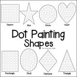 Shapes Dot Painting {Free Printable}   The Resourceful Mama   Free | Free Printable Fine Motor Skills Worksheets