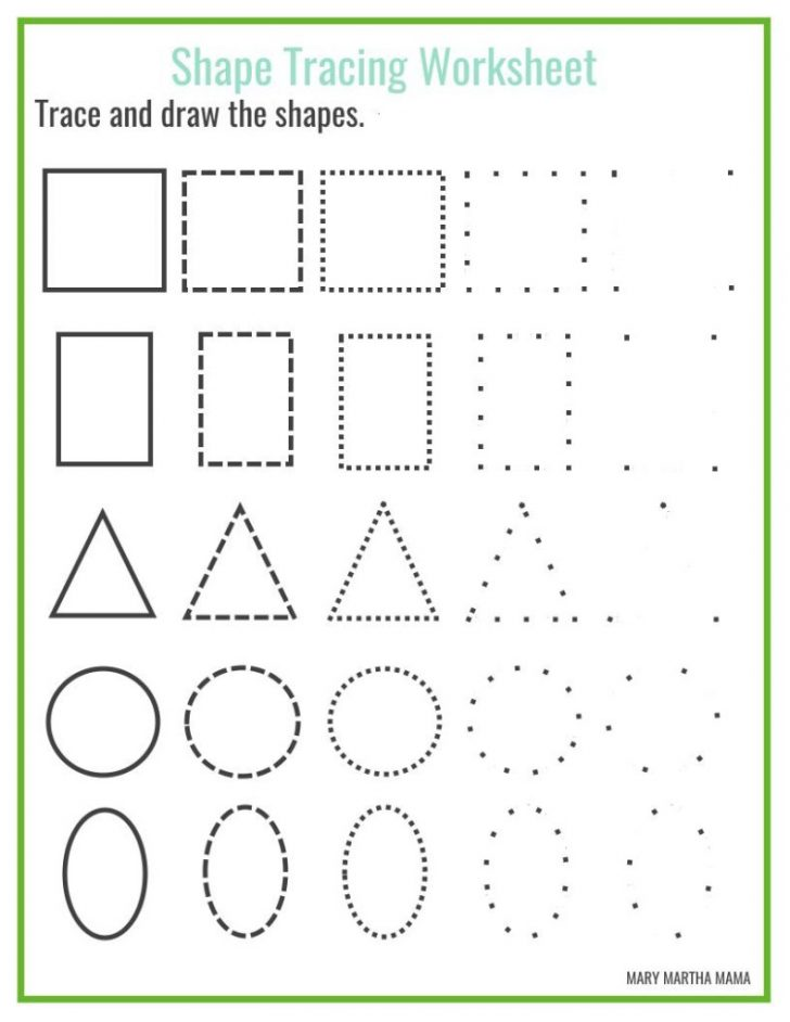 Printable Shapes Worksheets