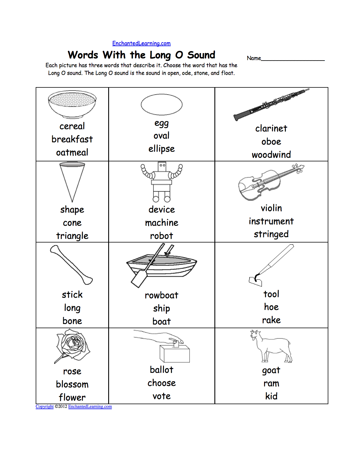 Short O Alphabet Activities At Enchantedlearning | Short O Worksheets Printable