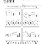 Short Vowel Sounds Worksheet (Thanksgiving Vowel Lesson, Page 10) | Short A Printable Worksheets