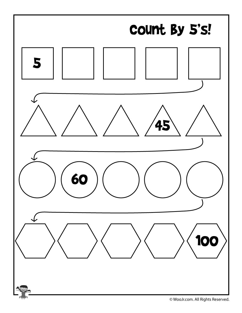 Simple Skip Counting Worksheets To Print | Woo! Jr. Kids Activities | Skip Counting By 3 Printable Worksheets