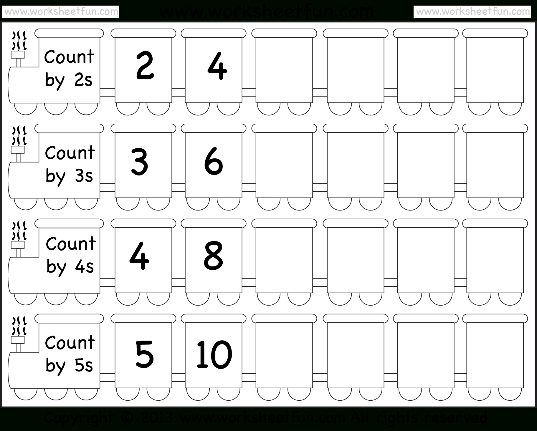 Skip Counting2, 3, 4 And 5 – Worksheet / Free Printable | Skip Counting By 3 Printable Worksheets