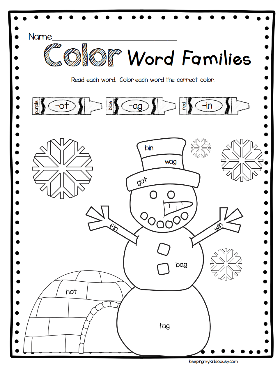 Snowman Math And Reading Activities - Winter Worksheets | Snowman Worksheet Printables
