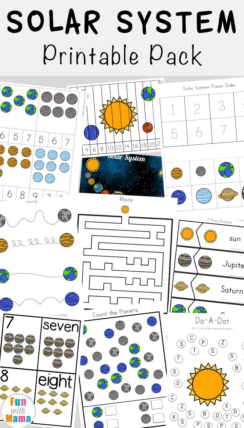 Solar System Printable Worksheets And Activities Pack | Early | Free Printable Space Worksheets