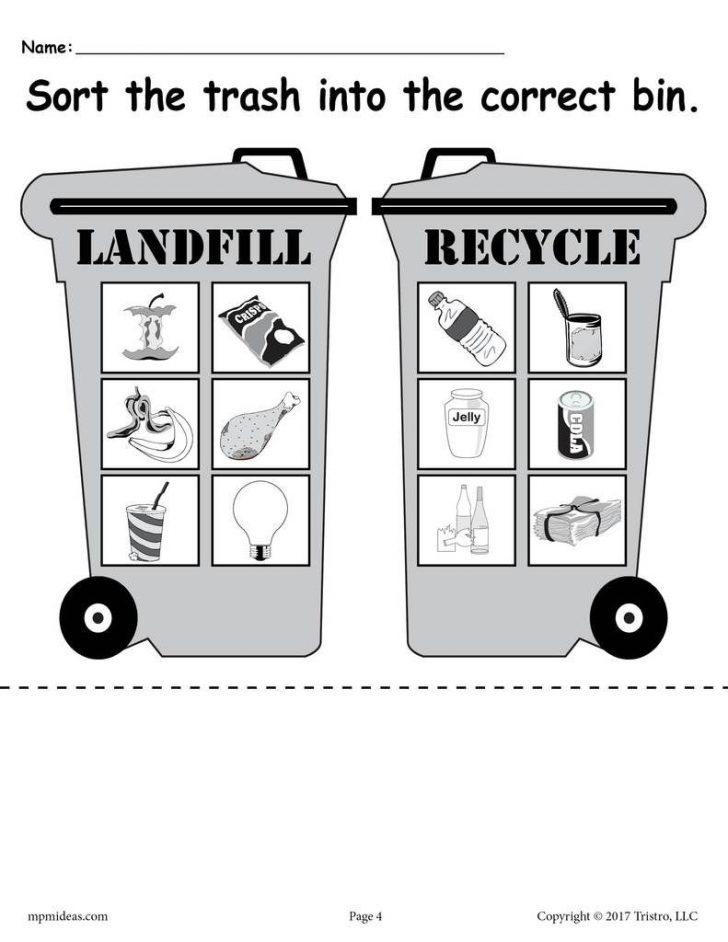 Recycle Worksheets Printable