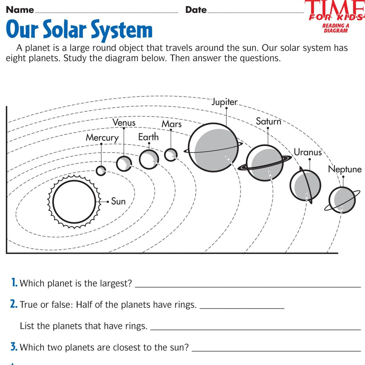 Space Printables | Time For Kids | {Third Grade} | Space Printables | Free Printable Space Worksheets