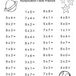 Space Theme   4Th Grade Math Practice Sheets   Multiplication Facts | Multiplication Printable Worksheets 4Th Grade