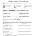 Spanish Worksheets Printables | Present Progressive Worksheet | Reflexive Verbs In Spanish Printable Worksheets