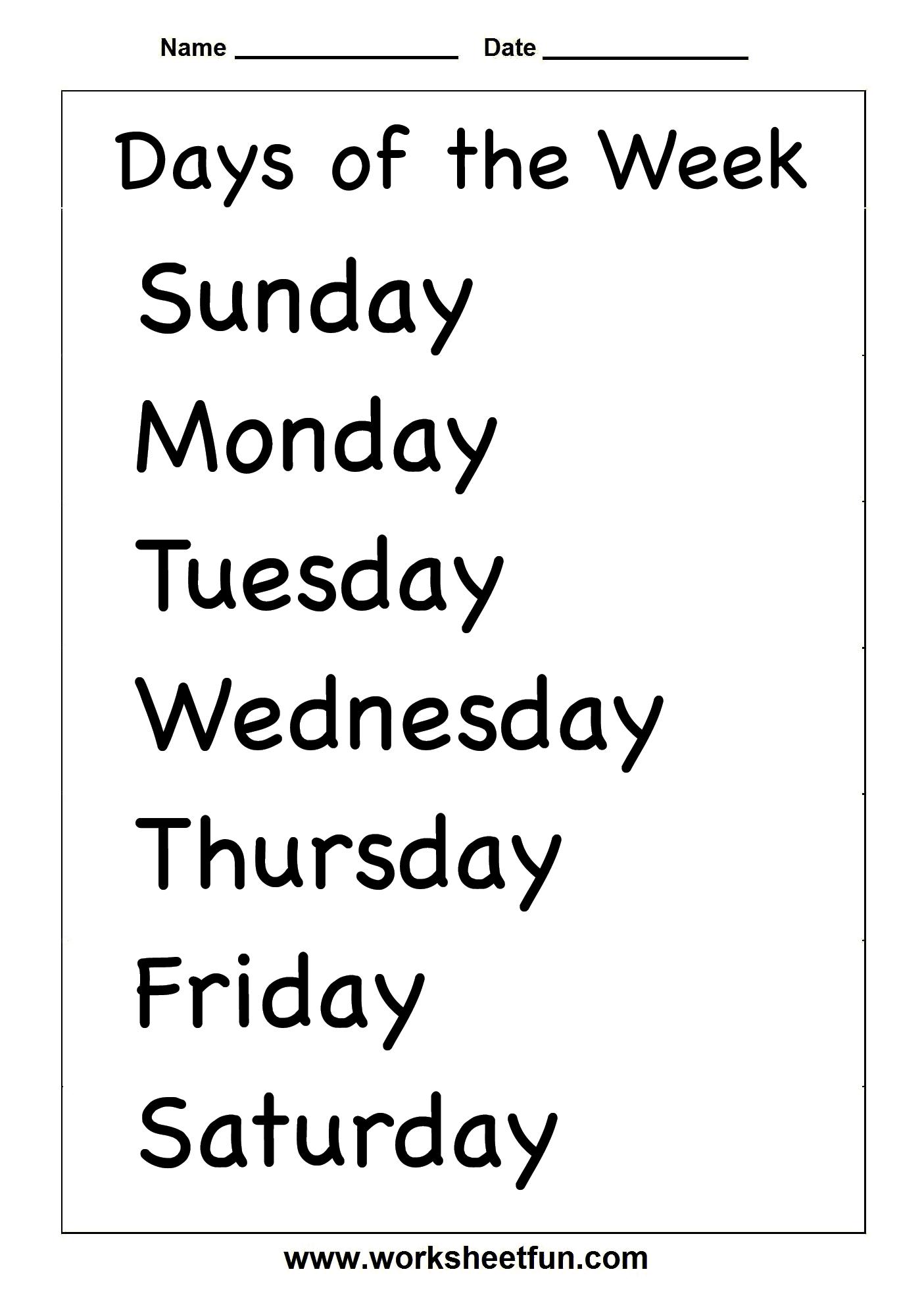 Spelling – Days Of The Week / Free Printable Worksheets – Worksheetfun | Printable French Worksheets Days Of The Week