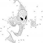 Spiderman Connect The Dots Printable Worksheets | Spiderman Worksheets Free Printables
