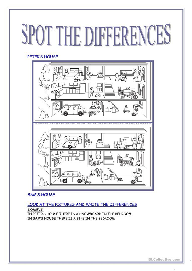 Spot The Differences Worksheet - Free Esl Printable Worksheets Made | Free Printable Spot The Difference Worksheets