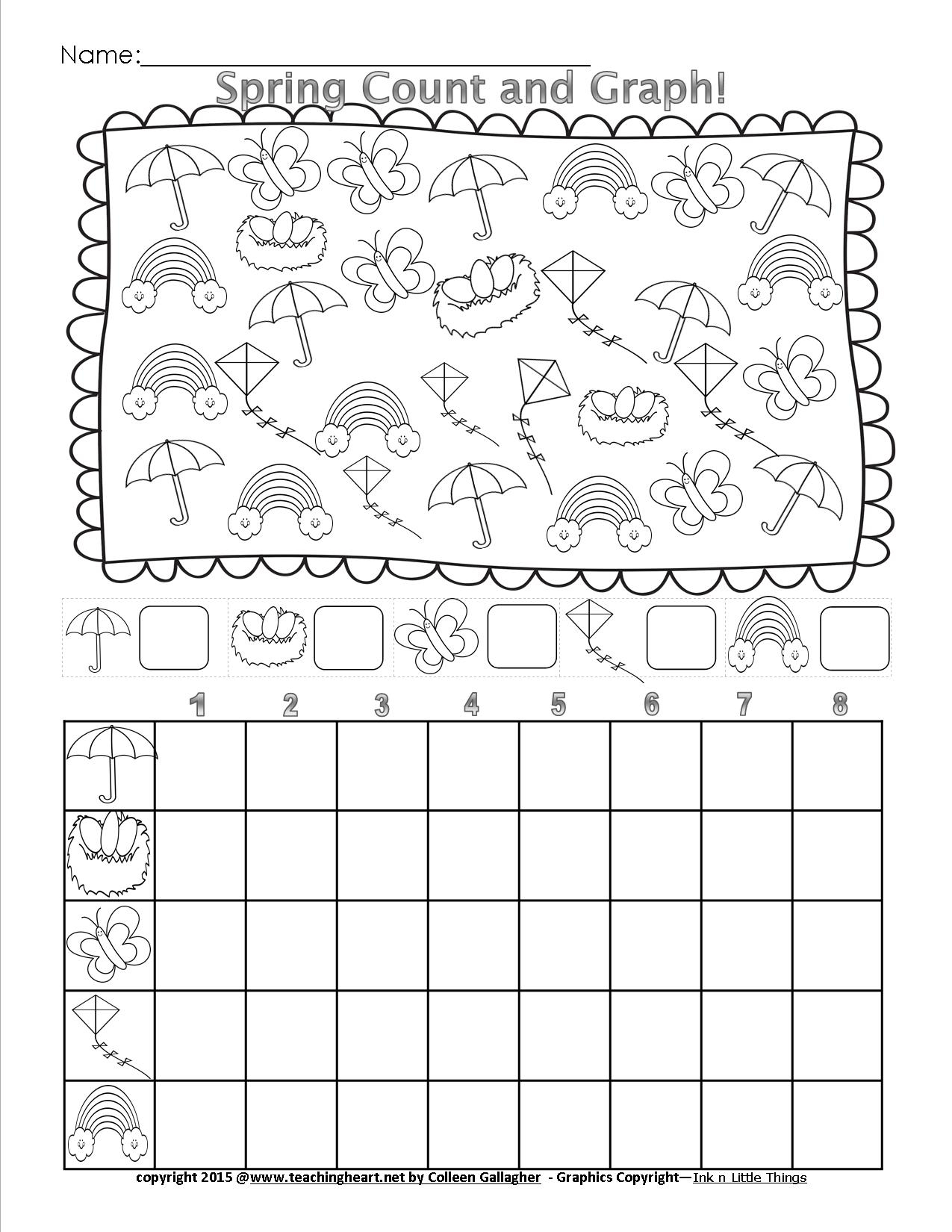 Spring Count And Graph - Free - Teaching Heart Blog Teaching Heart Blog | Free Printable Graphing Worksheets