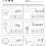 Spring Spelling Worksheet   Free Kindergarten Seasonal Worksheet For | Free Printable Spring Worksheets For Elementary