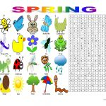 Spring Vocabulary (Wordsearch Puzzle) Worksheet   Free Esl Printable | Butterfly Word Search Printable Worksheets