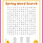 Spring Word Search Free Printable Worksheet For Kids | Butterfly Word Search Printable Worksheets