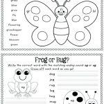 Spring Worksheet Spring Worksheet For Kids Spring Worksheets For | Free Printable Spring Worksheets For Elementary