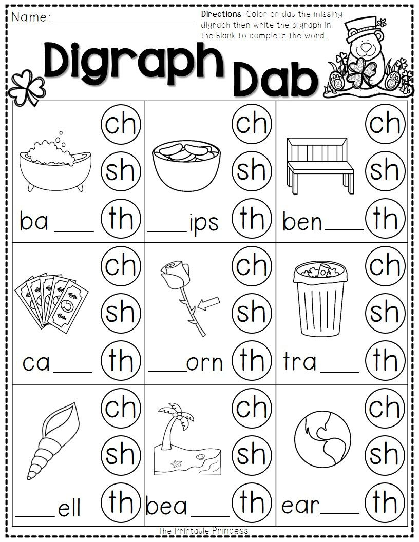 St. Patrick's Day Math And Literacy No Prep Freebie | Reading | Free Printable Ending Blends Worksheets