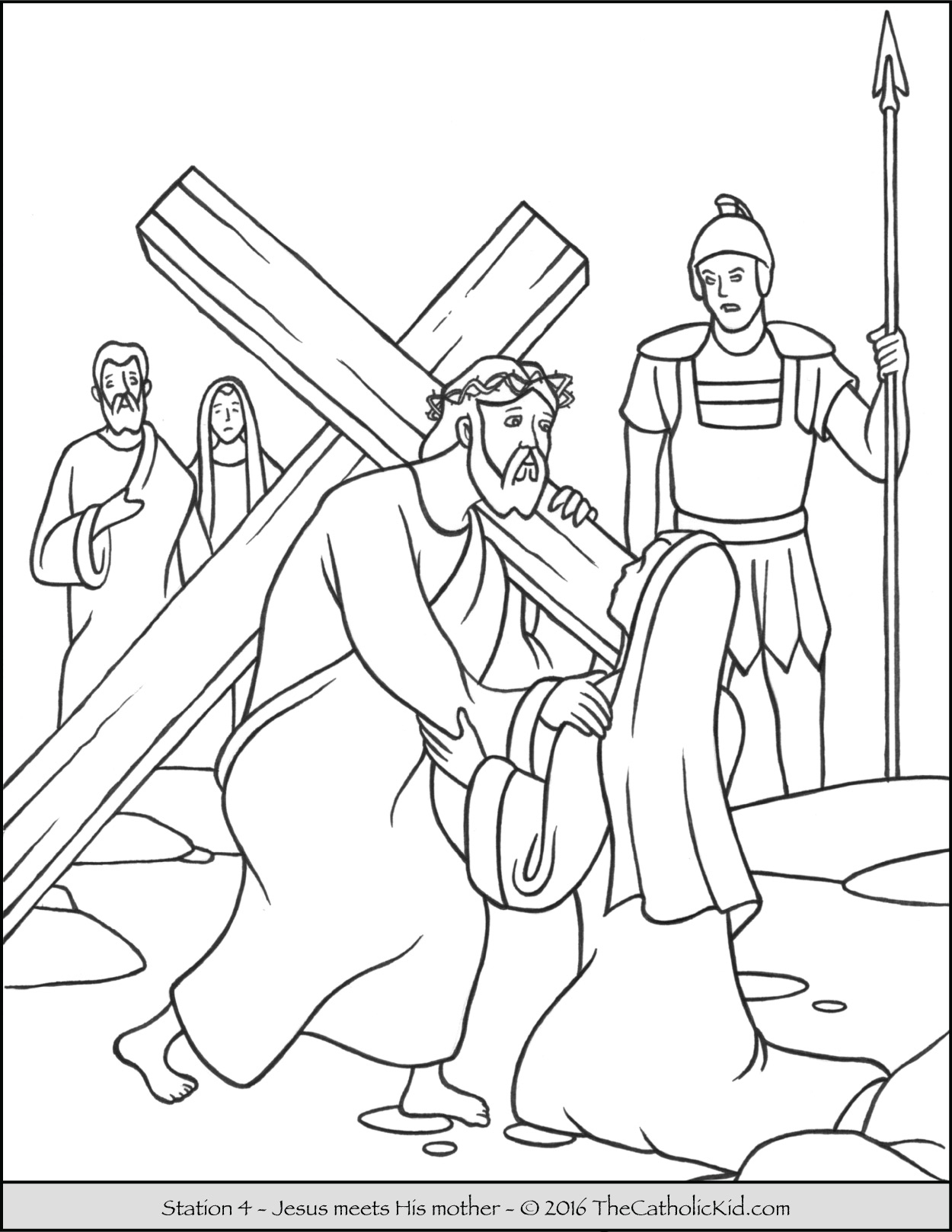 Stations Of The Cross Coloring Pages - The Catholic Kid | Stations Of The Cross Printable Worksheets