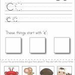 Subscriber Exclusive Freebie}   Letter C: Write, Cut & Paste | Free Printable Kindergarten Worksheets Cut And Paste