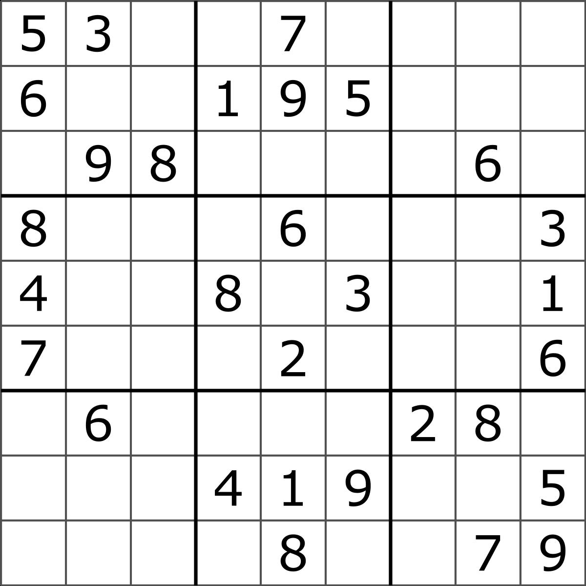 Sudoku - Wikipedia - Free Printable Sudoku Puzzles | Free Printables | Printable Sudoku Worksheets